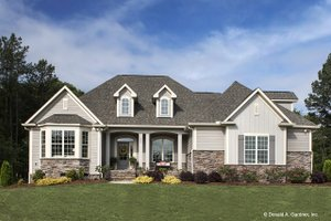 Home Plan - Country Exterior - Front Elevation Plan #929-610