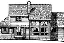 Home Plan - Traditional Exterior - Rear Elevation Plan #20-201
