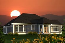 Dream House Plan - Ranch Exterior - Rear Elevation Plan #70-1217