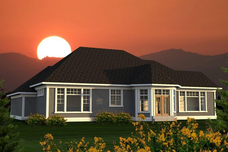 Ranch Exterior - Rear Elevation Plan #70-1217 - Houseplans.com