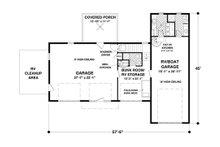 Craftsman Floor Plan - Main Floor Plan Plan #56-626