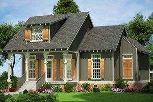 Cottage Exterior - Front Elevation Plan #45-585