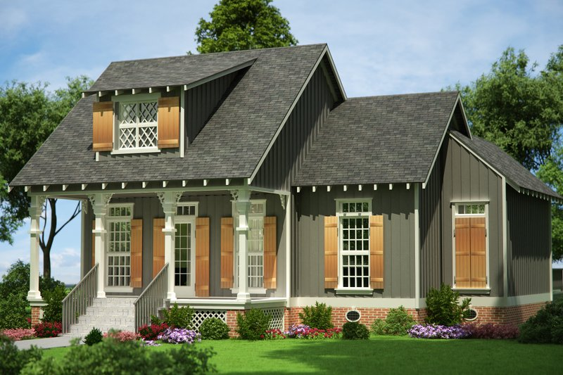 House Blueprint - Cottage Exterior - Front Elevation Plan #45-585
