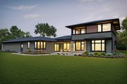 Contemporary Style House Plan - 4 Beds 4 Baths 3882 Sq/Ft Plan #48-1004 Exterior - Rear Elevation