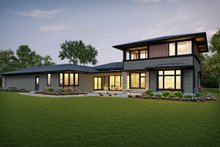 Architectural House Design - Contemporary Exterior - Rear Elevation Plan #48-1004