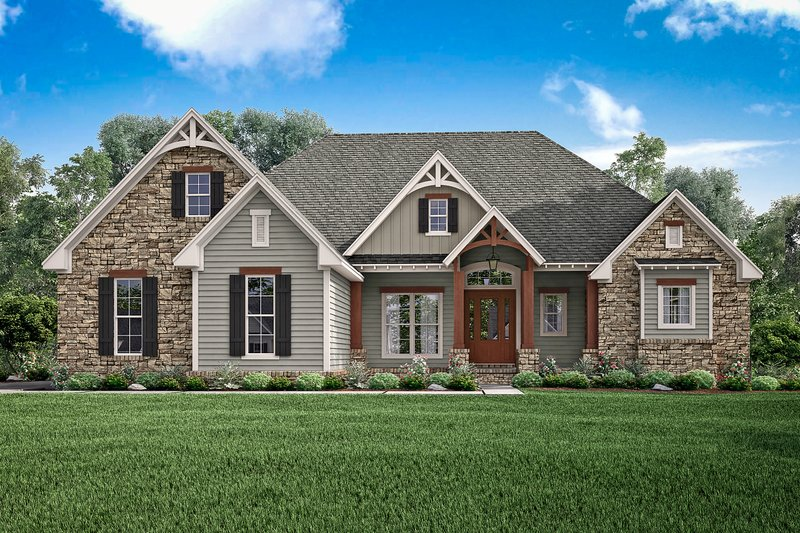 Craftsman Exterior - Front Elevation Plan #430-148