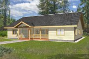 Cabin Style House Plan - 3 Beds 2 Baths 2484 Sq/Ft Plan #117-513 Exterior - Front Elevation