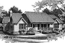 Home Plan - Country Exterior - Front Elevation Plan #14-135