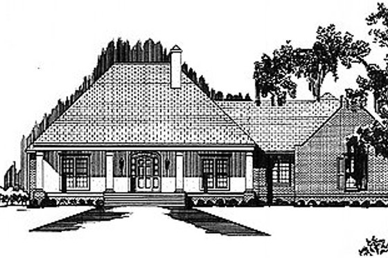 Mediterranean Exterior - Front Elevation Plan #15-123