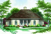 Traditional Style House Plan - 3 Beds 2 Baths 2000 Sq/Ft Plan #45-308 Exterior - Front Elevation