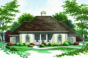 Traditional Exterior - Front Elevation Plan #45-308