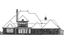 European Exterior - Rear Elevation Plan #310-554