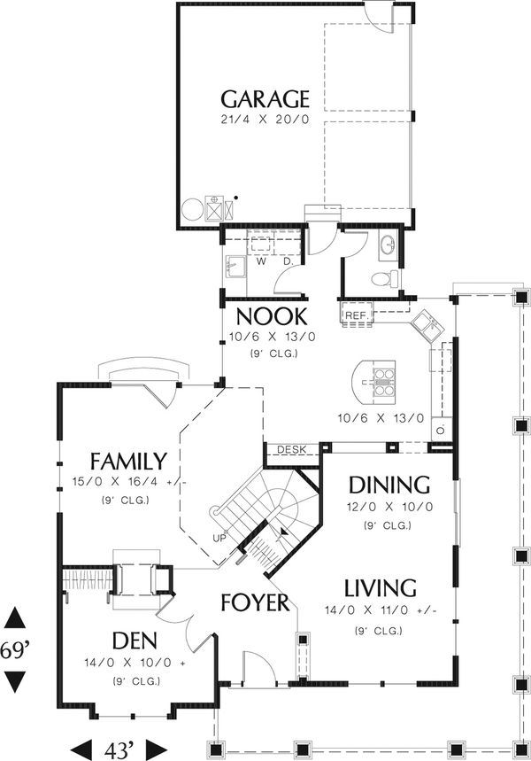Country Floor Plan - Main Floor Plan Plan #48-139