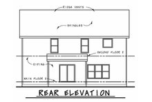 Dream House Plan - Traditional Exterior - Rear Elevation Plan #20-2196