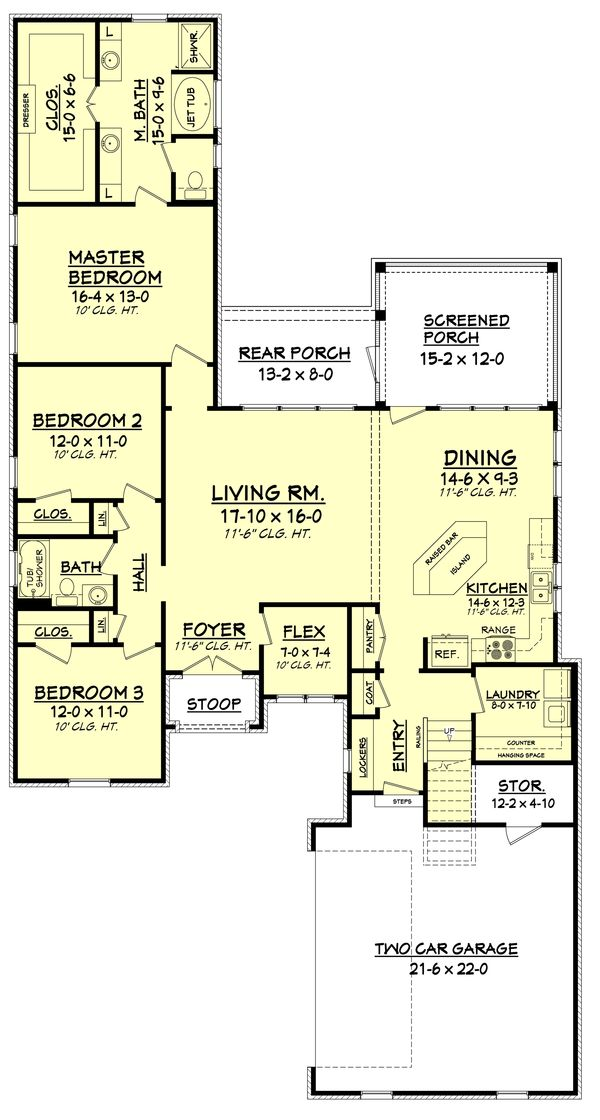 House Plan Design - European Floor Plan - Main Floor Plan #430-85