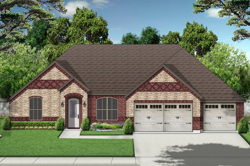 Traditional Exterior - Front Elevation Plan #84-590 - Houseplans.com