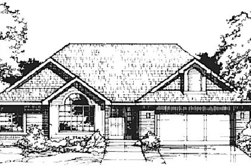 Home Plan - Traditional Exterior - Front Elevation Plan #320-359