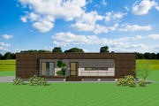 Modern Style House Plan - 2 Beds 2 Baths 1072 Sq/Ft Plan #549-19 Exterior - Front Elevation