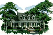 Country Style House Plan - 3 Beds 2.5 Baths 2393 Sq/Ft Plan #45-147 Exterior - Front Elevation