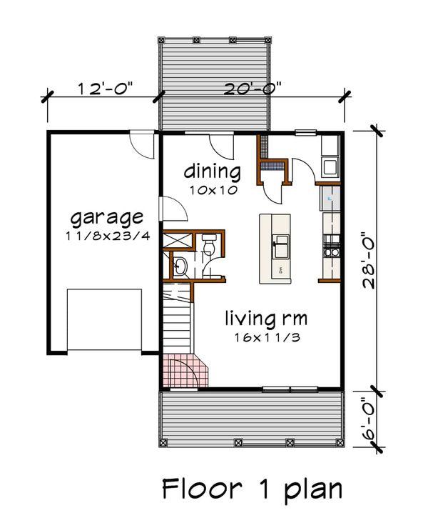 Farmhouse Floor Plan - Main Floor Plan Plan #79-124