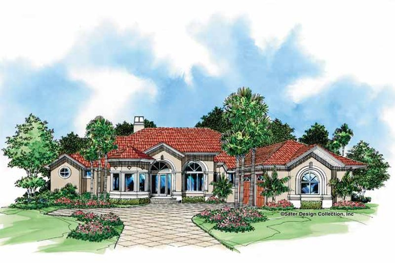 House Plan Design - Mediterranean Exterior - Front Elevation Plan #930-51