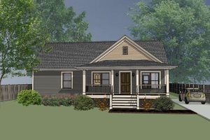 Country Exterior - Front Elevation Plan #79-118