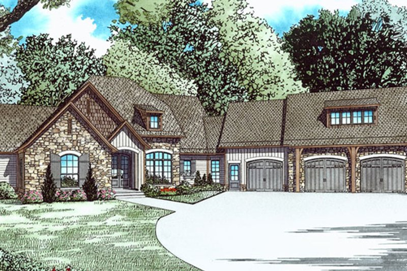 Ranch Exterior - Front Elevation Plan #17-3404 - Houseplans.com