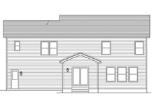 Colonial Exterior - Rear Elevation Plan #1010-116