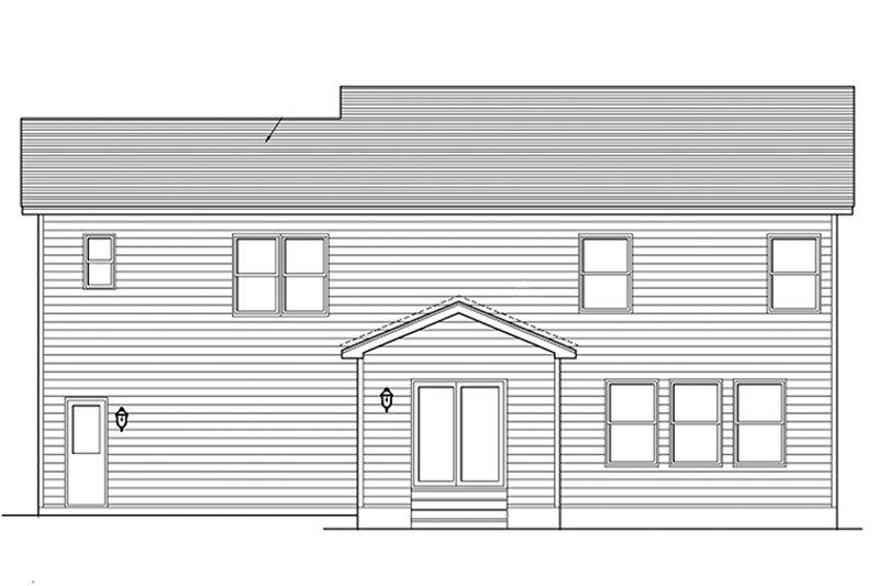 Colonial Exterior - Rear Elevation Plan #1010-116 - Houseplans.com