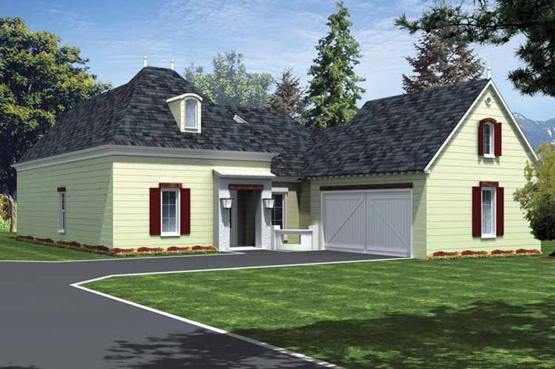 Home Plan - Country Exterior - Front Elevation Plan #15-381