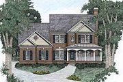 Traditional Style House Plan - 4 Beds 3 Baths 2070 Sq/Ft Plan #129-107 Exterior - Front Elevation