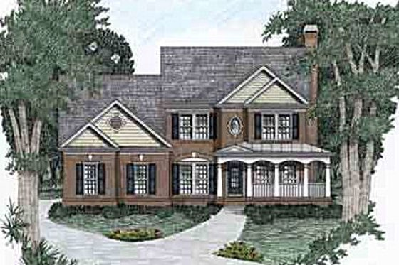 Traditional Exterior - Front Elevation Plan #129-107
