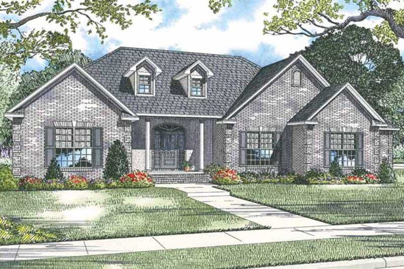 Country Exterior - Front Elevation Plan #17-2914 - Houseplans.com