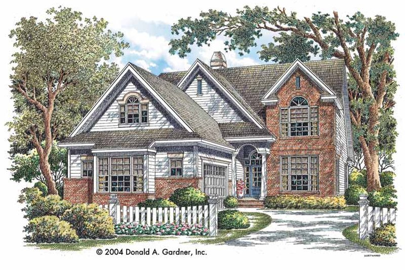 Traditional Exterior - Front Elevation Plan #929-723 - Houseplans.com