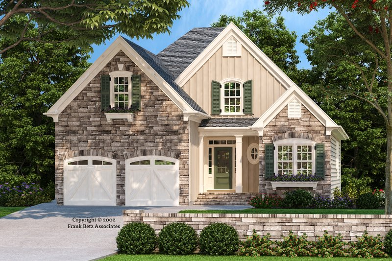 Country Style House Plan - 4 Beds 3 Baths 1867 Sq/Ft Plan #927-683 Exterior - Front Elevation