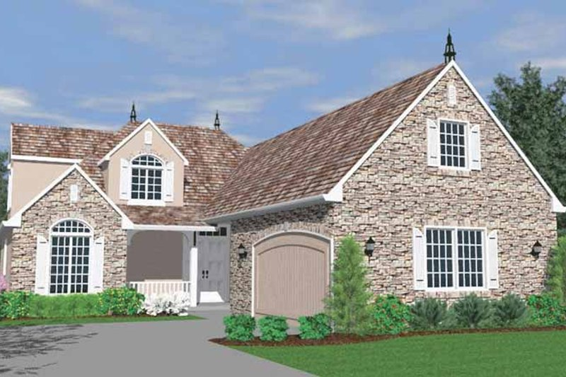Traditional Exterior - Front Elevation Plan #509-302 - Houseplans.com