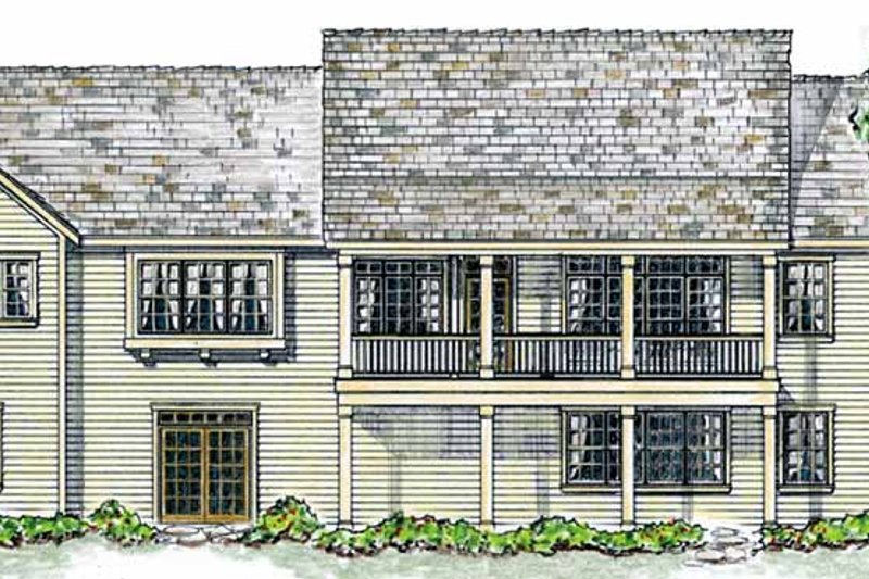 Colonial Exterior - Rear Elevation Plan #410-3566 - Houseplans.com