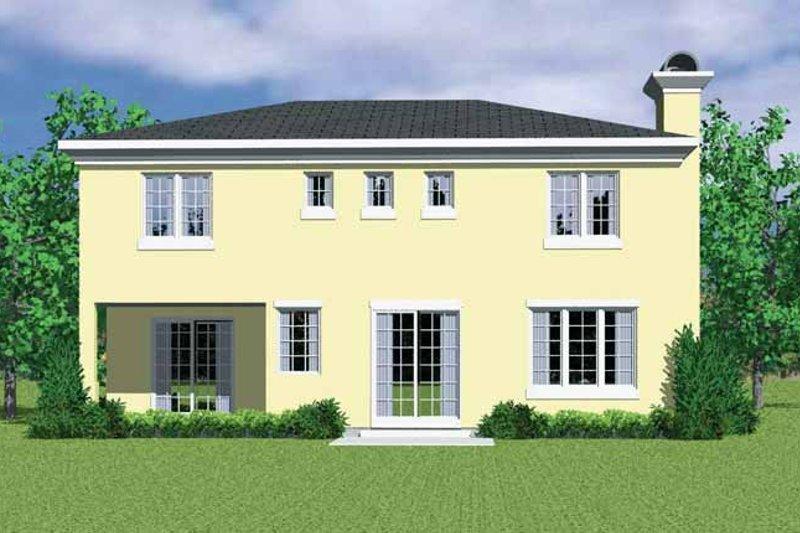 House Blueprint - Mediterranean Exterior - Rear Elevation Plan #72-1129