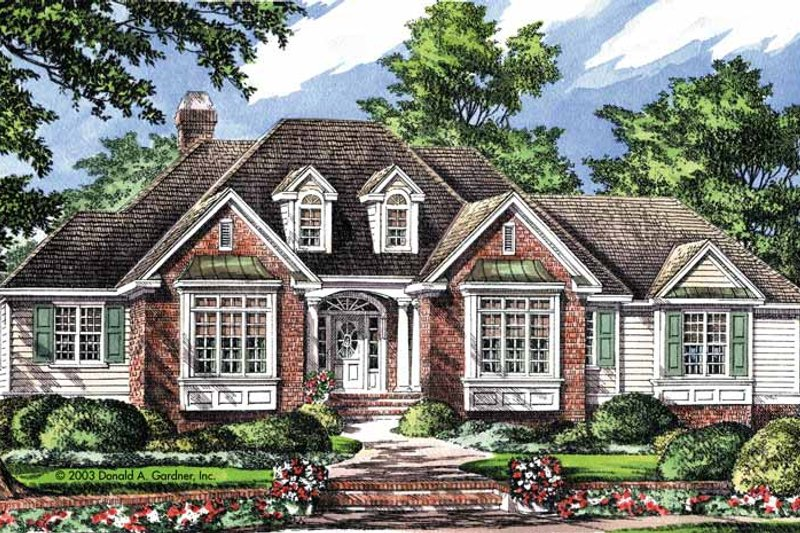 European Exterior - Front Elevation Plan #929-693