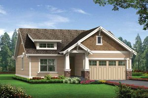 Architectural House Design - Craftsman Exterior - Front Elevation Plan #132-529