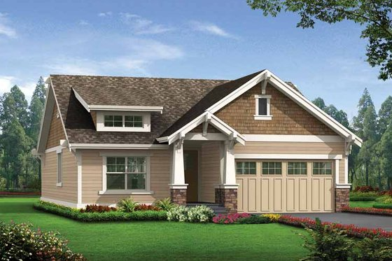 Craftsman Exterior - Front Elevation Plan #132-529