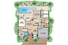 Mediterranean Floor Plan - Main Floor Plan Plan #1017-162