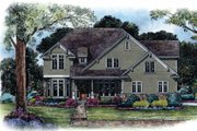 Craftsman Style House Plan - 4 Beds 3.5 Baths 2939 Sq/Ft Plan #20-1056 Exterior - Front Elevation