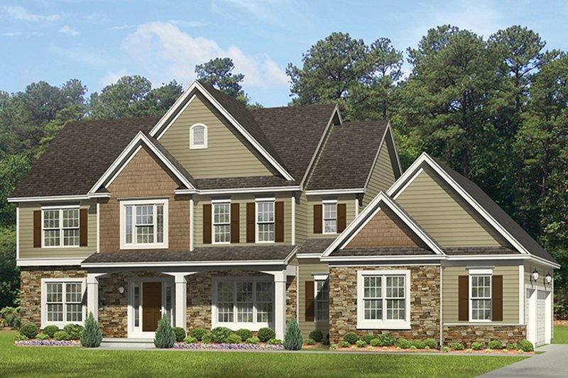 Colonial Exterior - Front Elevation Plan #1010-163 - Houseplans.com