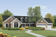 Traditional Style House Plan - 4 Beds 3 Baths 2322 Sq/Ft Plan #57-379 Exterior - Front Elevation
