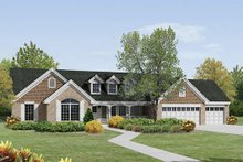 Home Plan - Traditional Exterior - Front Elevation Plan #57-379