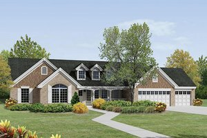 Traditional Exterior - Front Elevation Plan #57-379