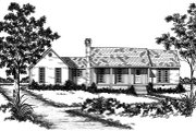 Country Style House Plan - 3 Beds 2 Baths 1681 Sq/Ft Plan #36-281 Exterior - Front Elevation