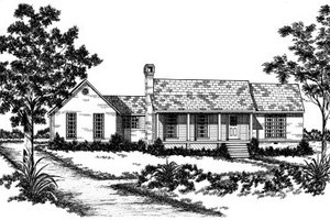 Country Exterior - Front Elevation Plan #36-281