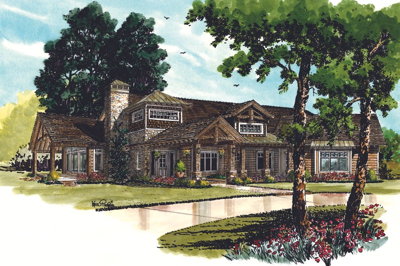 Architectural House Design - Ranch Exterior - Front Elevation Plan #942-32